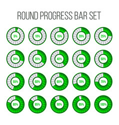 round progress bar circle vector image