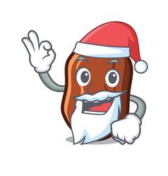 Santa dates fruit mascot cartoon vector