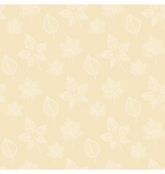 Seamless Autumn pattern on a beige background vector image