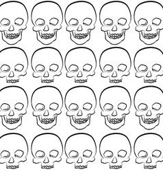 Seamless pattern of skull vector image