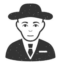 Secret Service Agent Grainy Texture Icon vector image