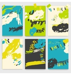 Set of creative universal brush stroke cards vector image