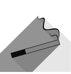 smoke icon great for any use black icon vector image