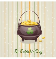 St Patricks Day card to the casserole with the vector image