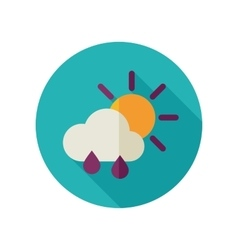 Sun Rain Cloud flat icon Meteorology Weather vector image