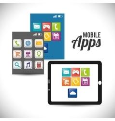 Tablet mobile apps design vector