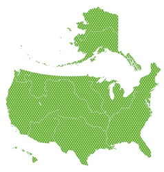 Textured map of USA vector image