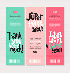 Thank you quotes and stickers vector