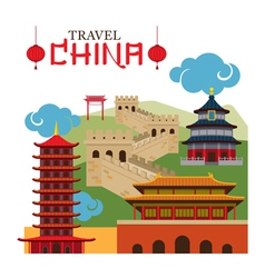 Travel China Landmark vector