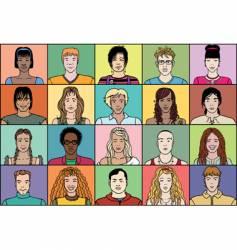 Twenty young people vector
