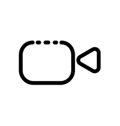 video camera outline icon - - flat pictograph icon vector image