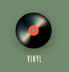 vinyl music record vector image