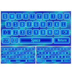 Virtual keyboard for smartphone vector