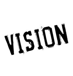 Vision stamp rubber grunge vector