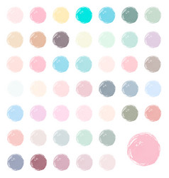 watercolor blobs stains splashes vector image