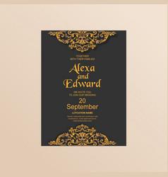 Wedding card invitation template image vector