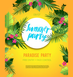 yellow summer poster vector image