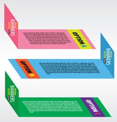 Colorful banners EPS10 vector image vector image
