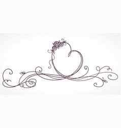 heart shape ribbon valentines day wedding vector image vector image
