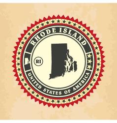 Vintage label-sticker cards of Rhode Island vector image vector image