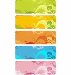 wavy banner set vector image