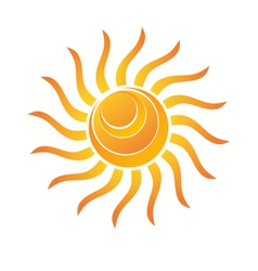 Yellow Shiny Sun Icon vector image vector image