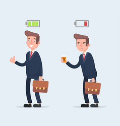 business and life energy businessman with low vector image