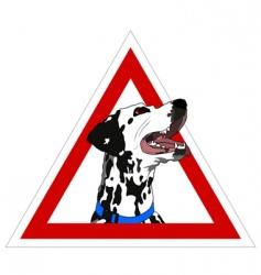 Dalmatian on board vector image vector image