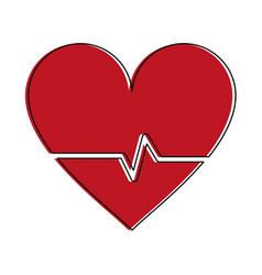 heartbeat medical symbol vector image vector image