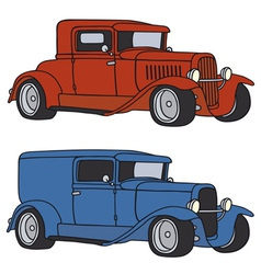 Hot rods vector image vector image