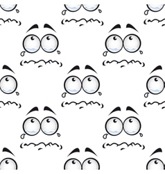 Seamless pattern with crying comics faces vector image vector image