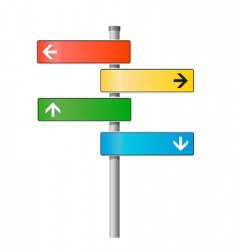 signpost illustration vector image vector image