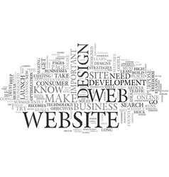 Web design extreme makeover text word cloud vector