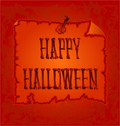 Happy Halloween inscription of bones vector image