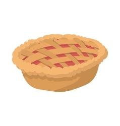 Pie cartoon icon vector image