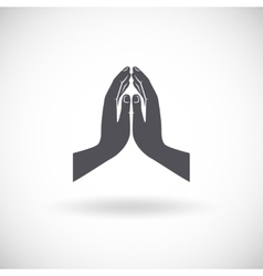 Praying Hands Icon vector image