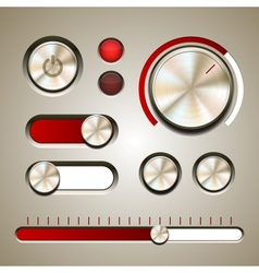 Set of the detailed UI elements vector image vector image