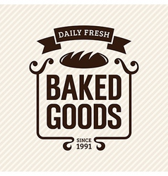 Baked Goods vector image vector image