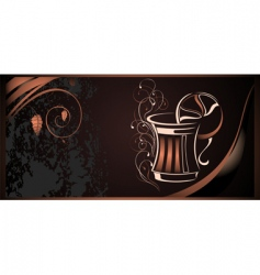 coffee illustration vector image vector image
