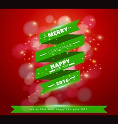 Greeting Card Merry ribbon banner design vector image
