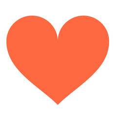 heart sign like icon favorite button vector image