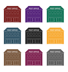 post officemail and postman single icon in black vector image