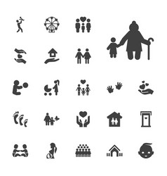 22 family icons vector image