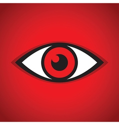 abstract eye icon red vector image