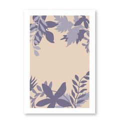 abstract floral botanical organic shapes vector image