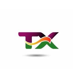 Abstract letter TX logo design template vector