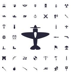 Aeroplane icon vector