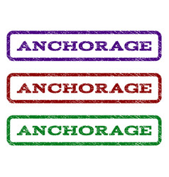 Anchorage watermark stamp vector