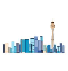 australia city buildings landmark panorama vector image