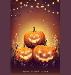 Autumn halloween party vector